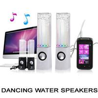 Mini haut-parleur portatif LED 2 en 1 Port USB Haut-parleur d'eau de danse pour tous les 3.5mm lecteur audio de musique Tablette PC MP4 IPHOE 5C GALAXY S4 DHL