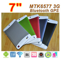 """7 inch Dual Core Android 4.1 Cheap 3G GPS phone call tablet pc 7"""" android 4.2 MTK6572 dual core dual SIM Slot 512B 4GB Dual camera Bluetooth tablet Cheap PB7-C5"""