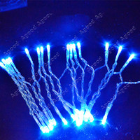 Wholesale New AA Battery Blue M LED String Fairy Party Festival Decoration Light Christmas Lamp Bulb TK0197
