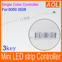AC best led dimmer - Best Price Mini LED Strip Light Controller Dimmer key for Single Color LED Strip SMD DC V white w DHL