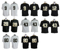 Wholesale Cheap Saints Game Jersey White Black New Season American Football Jerseys Brand Mens Jerseys Comfortable Outdoor Apparel