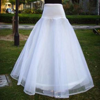 A-Line average wedding size - Only White Average Size Best Selling Cheap A Line Organza Lace Bridal Petticoats Wedding Underskirt Crinolines Bridal Accessory