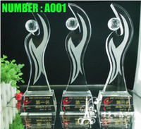 Trophy crystal awards and trophies - Custom made crystal trophy Football trophy Film and Television Award