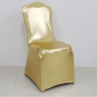 Wholesale Fedex new golden silver black red blue bronzing chair cover Wedding banquet chair cover