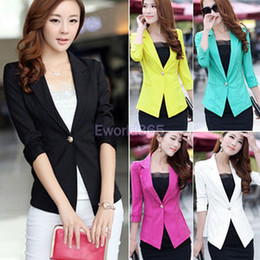 Wholesale New Womens Ladies Slim Fit One Button Sleeve Suits Jacket Blazer Top Coat