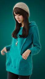 Vente en gros Hot! Livraison gratuite manches longues thermique d'hiver Hauts de maternité de maternité Manteaux Vêtements de grossesse Nursing Hoodie
