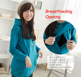 Wholesale Hot Long Sleeve Thermal Winter Maternity Tops Maternity Coats Pregnancy Clothes Nursing Hoodie