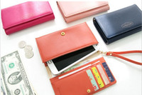 Wholesale Lady Card Wallet Leather Coin Purse Case Cover For Samsung Galaxy S2 S3 Iphone S Christmas Gift C1035