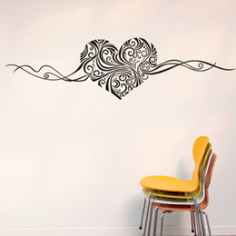 Artistic Heart Love Shape Wall Stickers, Vinyl Art Home Room Wall Decor Decals for Living Room Bedroom Decoration from pink heart art suppliers