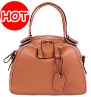 Women Plain Genuine Leather 2013 HOT high quality women's fashion designer[100% GENUINE LEATHER HANDBAG] cowhide-classical Promotion!!8690