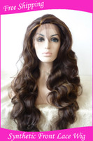 """as the picture show Synthetic hair Body Wave Body wave 16''-26"""" (as the picture show color) synthetic lace front wigs high quality heat friendly party wigs hot sale wig"""