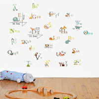 Removable alphabet decals - Colorful Alphabet Letters DIY Decorative Wall Stickers Decals for Nursery Kids Bedroom