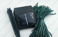 LED Christmas Waterproof -A2-LED Solar string light 50 leds 6Meters with Solar panel and stake led lights