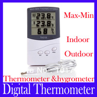 Wholesale Digital LCD indoor outdoor thermometer with hygrometer TA318 MOQ
