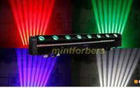 NOUVEAU 10W * 8PCS 4IN1 RGBW Cree LED Lumière de barre mobile de faisceau, LED Huit lumière de faisceau, éclairage d'étape de DMX