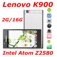 Lenovo 5.5 Android Lenovo K900 Intel Atom Z2580 android 4.2 2.0GHz 5.5 inch FHD Screen Android 4.2 2GB RAM 16GB Dual Camera 13.0MP phone