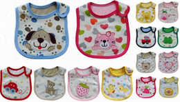 Wholesale Essential baby bib cotton layers waterproof cartoon baby bibs cm