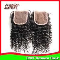 """Malaysian Hair Lace Base Natural Color Free Shipping!!Lace Top Closure Kinky Curly 4""""x3.5"""",100% Unprocessed Malaysian Virgin Human Hair, 10 -20 inch Free Parting Middle Parting"""