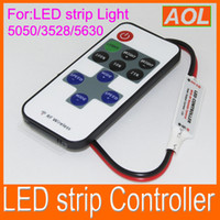 Wholesale Single Color LED strip Mini Controller With RF Wireless Remote Control Mini Dimmer V V for Led Strip Lighting