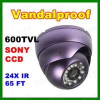 Wholesale 600TVL SONY CCD IR LED Vandal Dome Camera Outdoor CCTV Security Camera Good Night Vision