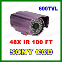 CCD Indoor 48 LED 600TVL High Resolution 48LED IR Day & Night Bullet Outdoor Camera Weatherproof CCD CCTV Security Surveillance