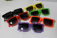 UV400 Square Man Wholesale Color mosaic fashion personality full frame sunglasses Kids sunglasses