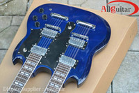Wholesale Double Neck Strings Guitar Sky Blue Electric Guitar China Guitar
