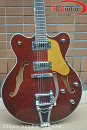 6120 Brown Red Archtop Guitar JAZZ hollow Chrome Hardware Electric Guitar China Guitar