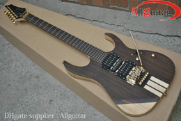 solid Rosewood Body guitar One Piece body Guitar floyd rose bridge Gold hardware Chinese electric Guitar