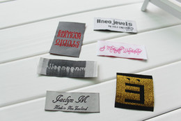 Free shipping 1000pcs lot clothing tags woven custom neck labels and tags without cut in roll