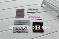 Wholesale custom sewing label cloth label with logo garment labels separate cut or folded
