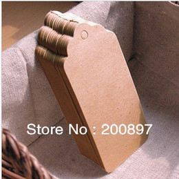 Wholesale Blank price tag Kraft paper Gift tag with cords DIY brown paper kraft label paper TAGGING