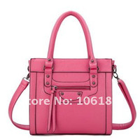 Women Plain PU Hot sale!! high quality dermis PU leather handbag,Smeil face designer ladies leather handbag HQ-HB-86206