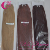 Wholesale 100 Loop Micro Ring Hair wave hair of brazilian human straight hair extensions b j
