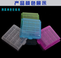 Wholesale Hard Plastic Case Holder Storage Box For AA AAA Battery colors