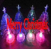 Wholesale Supernova Sale Light emitting Christmas Tree New Year Gift Fiber Optic Light Festival Ornament Christmas Decoration Gifts