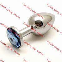 Wholesale 100pcs g S size CM Stainless Steel Attractive Butt Plug Jewelry Anal Plug Rosebud Anal Jewelry