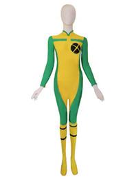 X-men Rogue Spandex Superhero Costume Halloween Costumes