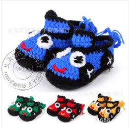 Wholesale Crochet Baby Shoes Boys Handmade Booties Baby Girls House Slippers Infant Knitted First Walker Shoes Toddler Sandals Pattern