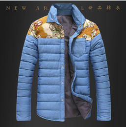 Wholesale 2014 New Fashion Men s Winter Warm Coat Casual Ethnic shirt thicken Colors Jacket Outwear