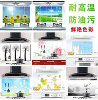Wholesale Oil proof sticker high temperature resistance kitchen paster Lampblack Kitchen Paster Ornament Mark cm cm