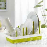 Wholesale Dishes drain rack glass rack tableware bottle storage rack pot rack cutting board rack