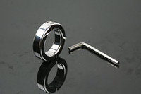 Steel   Scrotum Bondage Ball Stretcher Male Penis Cock Ring Stainless Steel Metal Chastity Ring Adultsex Toy A039