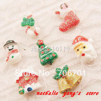 Wholesale mm Flatback Resin Christmas Nail Ornament for DIY Accessories by