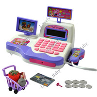 Wholesale New Baby Educational Toy Pretend Play Register amp Scanner Supermarket Cash Toys Hot Selling