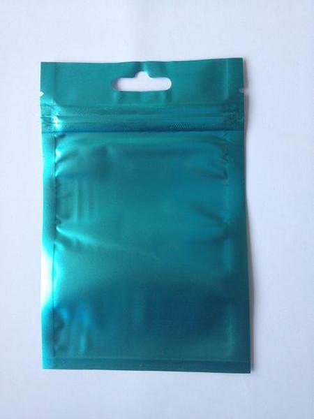 Бесплатная доставка Clear + blue бабочка отверстие Алюминиевая фольга молния Пластиковый пакет с отверстием для бабочки Ziplock Пластиковый мешочек