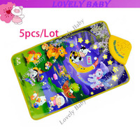 Wholesale 5pcs Farm Music Touch Play Mat Childhood toys animal farm music harp educational electronic keyboard toys