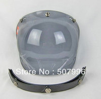 Wholesale 3 Snap Smoke Len Visor shield for motorcycle Bobber helmet D