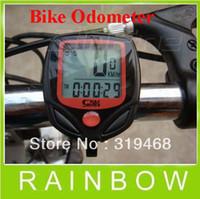 Wholesale Lowest Price RA Digital LCD Bike Cycle Computer Odometer Bicycle Speedometer Stopwatch Meter FedEx