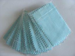 100pcs / pack Argent Cloth polonais pour l'argent Bijoux d'or Cleaner Option Bleu Rose Vert couleurs Meilleure qualité E-paquet Envoi gratuit